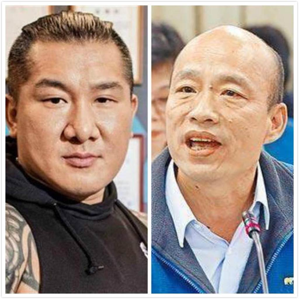館長(左)、高雄市長韓國瑜(右﹚。(合成圖/館長臉書、中時資料照)