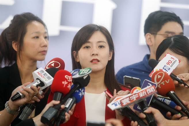 韓國瑜競選總部發言人何庭歡。(圖/中央社)