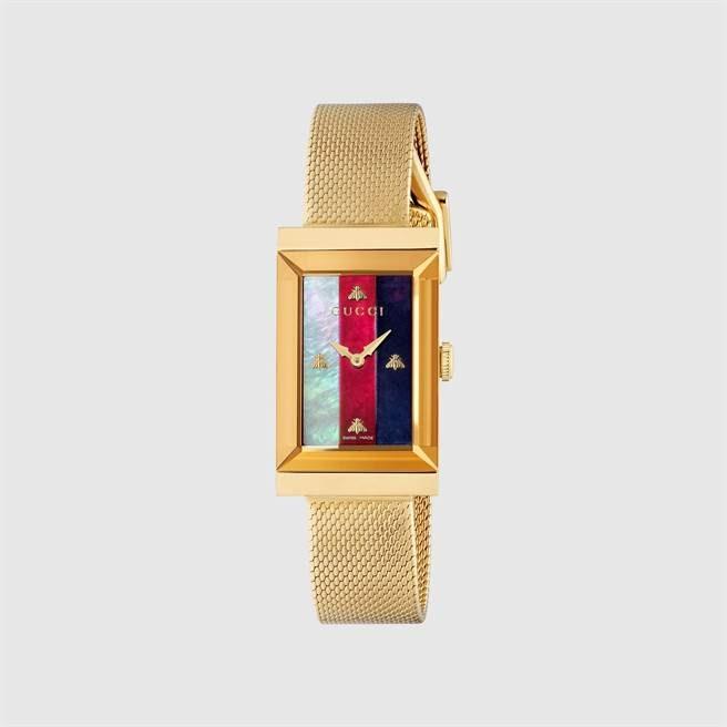 GUCCI方形腕表,4萬4000元。(GUCCI提供)